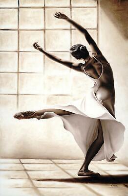 Contemporary ballerina painting Dance Finesse Signed Fine Art Giclée Print