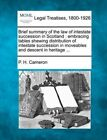 Brief Summary of the Law of Intestate Succession in Scotland: Embracing Tables Shewing Distribution of Intestate Succession in Moveables and Descent in Heritage ... by P H Cameron (Paperback / softback, 2010)