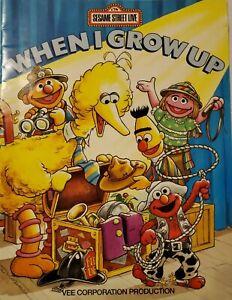 Sesame-Street-Program-Book-Vintage-Live-When-I-Grow-Up-1993-Big-Bird-Elmo-Bert