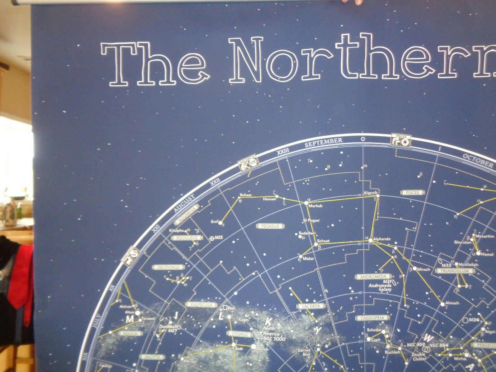 Pottery Barn Teen Northern Sky 4 X 6     (1 for ref only ) Wall Mural  New wo tag c03b87