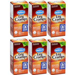6-Pack-Hyland-039-s-Leg-Cramps-Relax-Calf-amp-Foot-Cramps-100-Tablets-Each