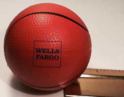 "WELLS FARGO FOAM RUBBER BASKETBALL ADVERTISING COLLECTIBLE 2 /& 1//4/"" FREE SHIP"