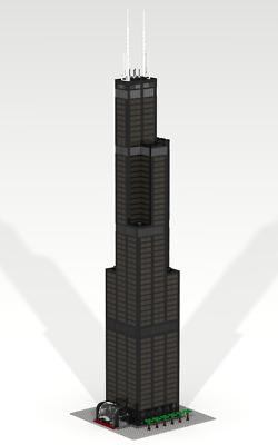 CUSTOM LEGO BUILDING Willis Tower (Sears T) Chicago Skyscraper SIZE:39  inches!!!   eBay