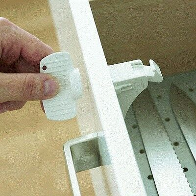 BabyDan Magnetic Drawer Lock and Cupboard Lock (1 Lock and 1 Key Set)