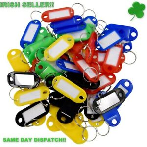 Plastic-Keyrings-Key-Tags-ID-Label-Name-Tags-Split-Ring-30-Pcs