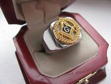 Superb NEW! Mens Masonic Masons Crest Stainless Steel Silver Ring