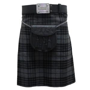 Tartanista-Grey-Granite-5-Yard-10-oz-Scottish-Highland-Value-KILT-30-54