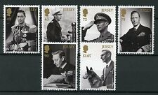 Jersey 2017 MNH King George VI House of Windsor 6v Set Royalty Stamps