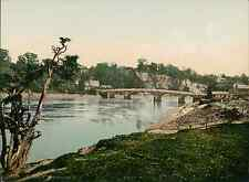 Monmouth. Chepstow. The Bridge II.   PZ vintage photochromie, photochrom photo