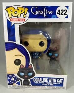 Funko Pop! CORALINE WITH CAT #422 (Vaulted, Rare NIB)