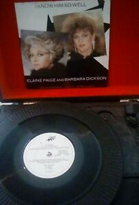 Elaine-Paige-And-Barbara-Dickson-I-Know-Him-So-Well-Vinyl-7-034-P-S-CHESS-3-1984