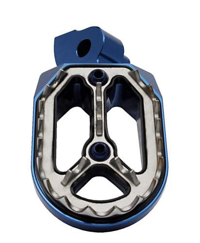 Bocast Alu reposapiés azul para yamaha yz WR yzf footpegs Footrest motocross