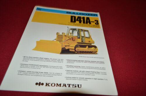 Komatsu D41A Crawler Dozer Dealer/'s Brochure DCPA4