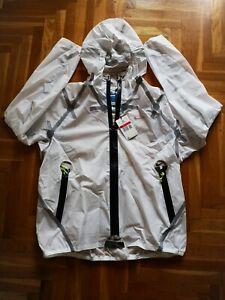 NIKE NRG ISPA Nylon  WATERPROOF JACKET SIZE Large White CJ4570-100