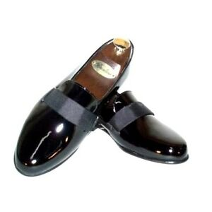 new transit patent leather slip on tuxedo shoes ebay