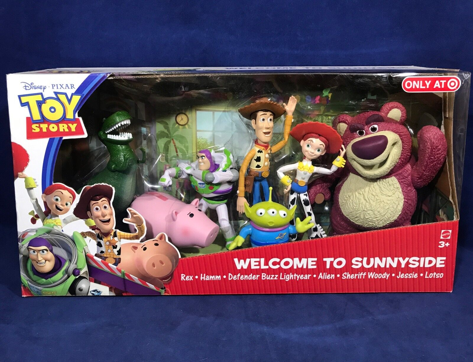 NEW Toy Story WELCOME TO SUNNYSIDE 7-Pack WOODY Rex JESSIE Buzz LOTSO 6  FIGURES