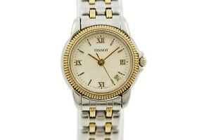 Vintage-Tissot-ballade-C217-317C-bi-metal-acier-quartz-montre-femme-1629