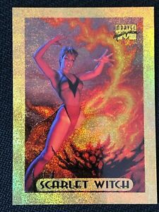 1994-Fleer-Marvel-Masterpieces-Holofoil-Gold-scarlet-witch