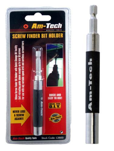 Vis Am-Tech porte-embout Finder doigt perceuse conducteur Saver REENROULEMENT 90mm 9cm