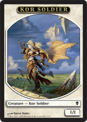 x4 MTG 4x Kor Soldier Token