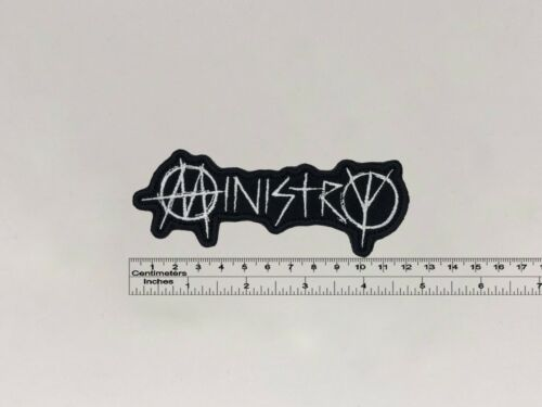 """4,72/"""" x 1,77/"""" Ministry band patch 12cm x 4,5cm"""