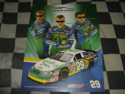 Racing-nascar 2009 Bowyer,burton,leicht Holiday Inn Nascar Postcard Sports Mem, Cards & Fan Shop