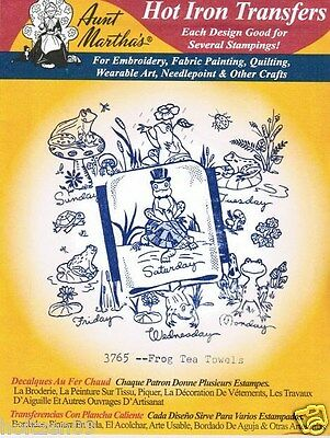 Little Boy/'s Tea Towels #3911 Aunt Martha/'s Hot Iron Embroidery Transfer Pattern
