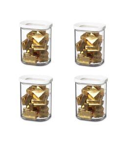 Mepal-106921030600-Modula-Vorratsdose-Kunststoff-375-ml-transparent-weiss-4er-Set