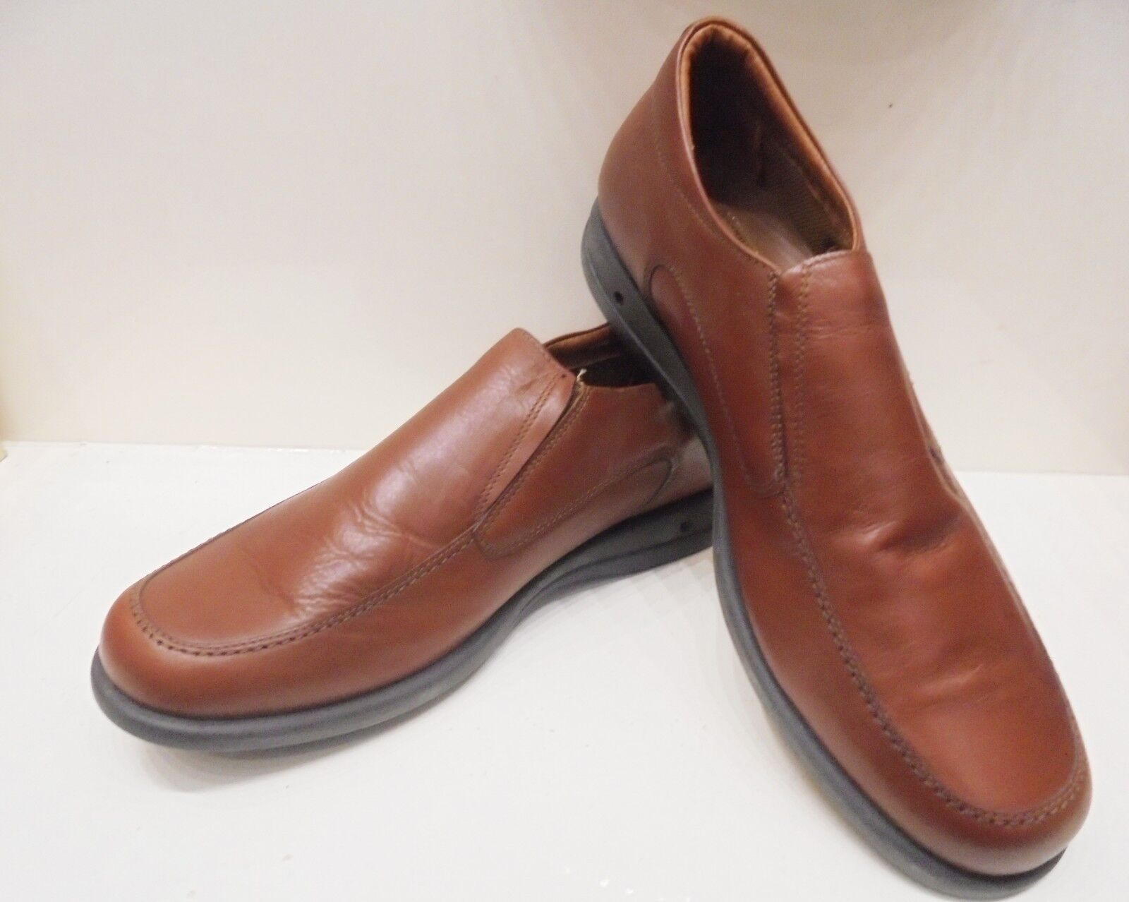 STONE HAVEN Schuhe Uomo Ecogreen Mocassini  Pelle Marrone n.46-100% Made  Mocassini 7c718a