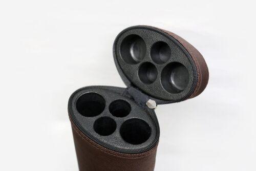 Macaron BROWN 2x2 Case Hard Tube Case//Tapered Delta Mnfg Heavy Duty Nylon