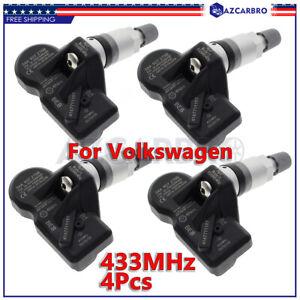 4PCS NEW 3AA907275 Tire Pressure Monitoring TPMS Sensor For Volkswagen CC Tiguan