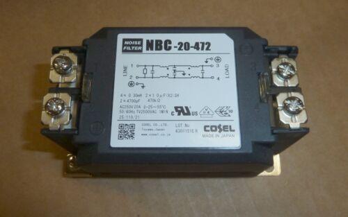 Puissance De Bruit Ligne Filtre-Cosel NBC-20-472 250 V 20 A