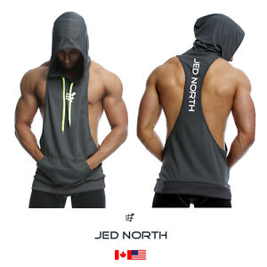 3d7ab334c8c2bc Image is loading Bodybuilding-Stringer-Hoodie-Tank-Top-Sleeveless -Racer-Back-