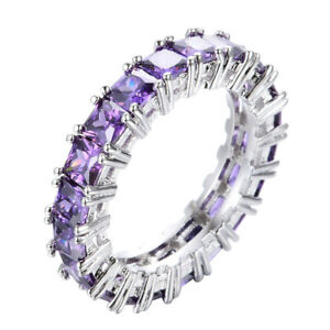 Top-Sales-Natural-Purple-Amethyst-Gemstone-Silver-Woman-Band-Ring-Size-6-10