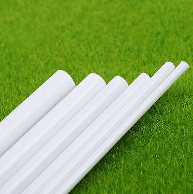 2 pcs ABS Styrene Plastic Round Tube Pipe Diameter 2 to 10mm *250mm White #E42
