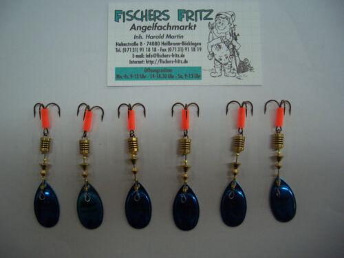 Gr.2 mit 4,5 g zum Sparpreis 5 x Mepps Aglia Platinium blau 1 Gratis 6 Stück