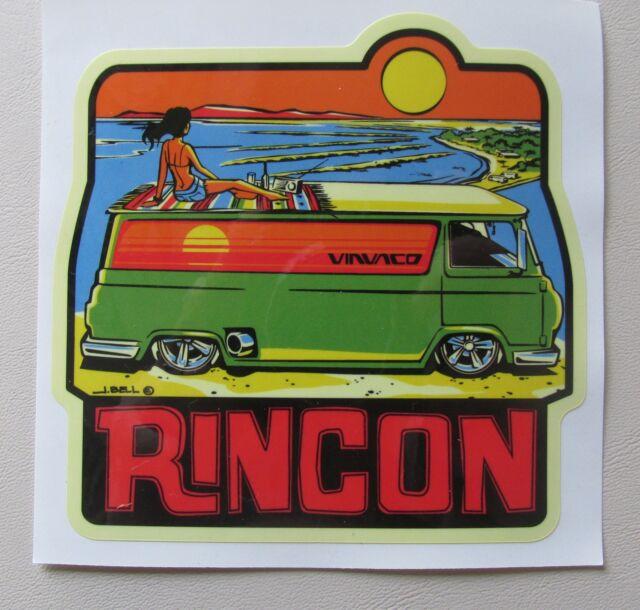 Vintage 1960's-Style Rincon Travel/Surfing Surfer Van Econoline Sticker/Decal