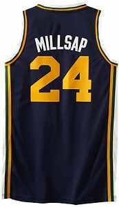 NEW ADIDAS UTAH JAZZ PAUL MILLSAP JERSEY XL SWINGMAN REV 30 ATLANTA ... 3201d928d