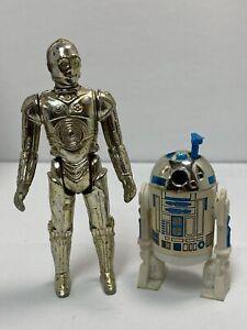 Vintage (Loose, 100% Comp.) 1977/80 Kenner Star Wars C3PO ('77) & R2D2 ('80) Lot