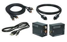 Digital zu Analog Konverter + 1,5m Toslink + 1,5m Cinch Kabel + USB Kabel #MS1.5