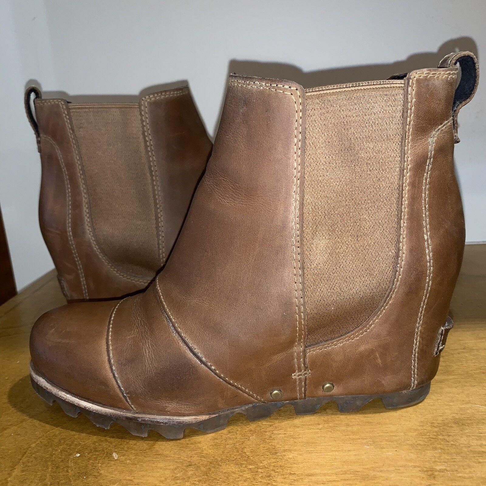 23752b40ee16 Sorel Lea Wedge Elk Curry 7 Joan Arctic Ankle Boot for sale online ...