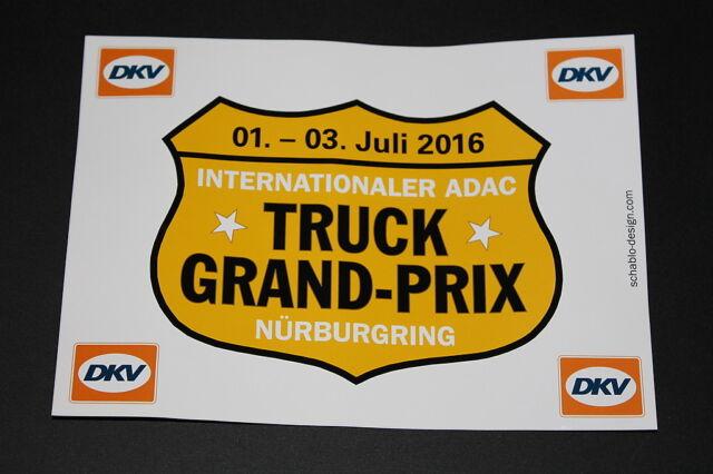 truck grand prix dkv adac n rburgring 2016 aufkleber sticker decal bapperl lkw ebay. Black Bedroom Furniture Sets. Home Design Ideas