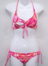 XOXO Pink Floral Halter Bikini Swimsuit S Cup A B