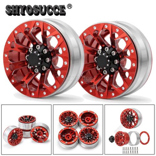"4X 1.9/"" Beadlock Wheel Rims Hub For 1//10 RC Axial SCX10 Traxxas TRX4 Redcat GEN8"