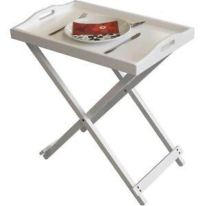 FOLDING-WHITE-WOODEN-PORTABLE-BUTLER-BREAKFAST-DINNER-SERVING-TRAY-SIDE-TABLE