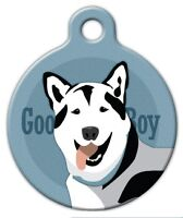 Good Boy Husky - Custom Personalized Pet Id Tag For Dog And Cat Collars