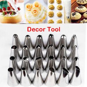 Sugarcraft-24-Pcs-Icing-Piping-Nozzles-Tips-Pastry-Cake-Cupcake-Decor-Tool-Bake