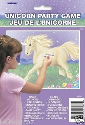 PIN THE TAIL DONKEY GAME PARTY Pirate Fairytale Princess Clown Unicorn Pony