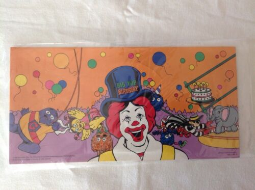 MINT McDonald/'s Ronald McDonald Birthday Hats VERY HARD TO FIND Lot of 4