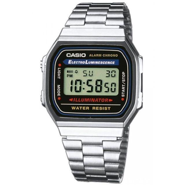Casio A168W-1, Classic Digital Watch, Chronograph, Alarm, Day/Date